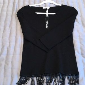 Black Max and Co top with beaded fringe